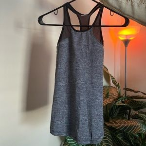 Grey and Black Workout Tank